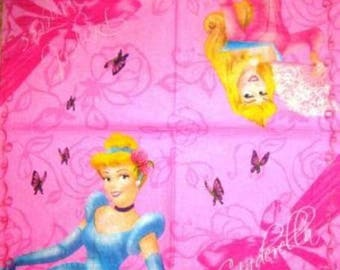 TOWEL in paper Cinderella and sleeping #E005 beautiful