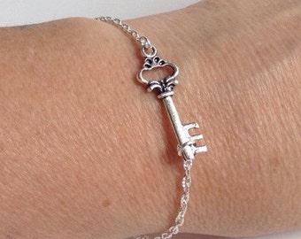 Steampunk Skeleton Key Bracelet, Key Jewelry, Key Bracelet