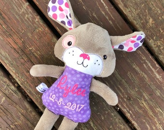 Handmade Girl Puppy - Stuffed Puppy - Stuffed Dog - Dog Plush - Girl Dog - Personalized - Toy for Kids - Gifts for Girls - Christmas Gift