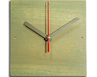 Poplar Stained Contemporary Clock