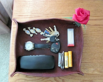 Leather Table Organizer