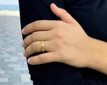 lace ring gold  ,floral ring gold rings for women minimalist jewelry minimalist ring delicate ring filigree ring