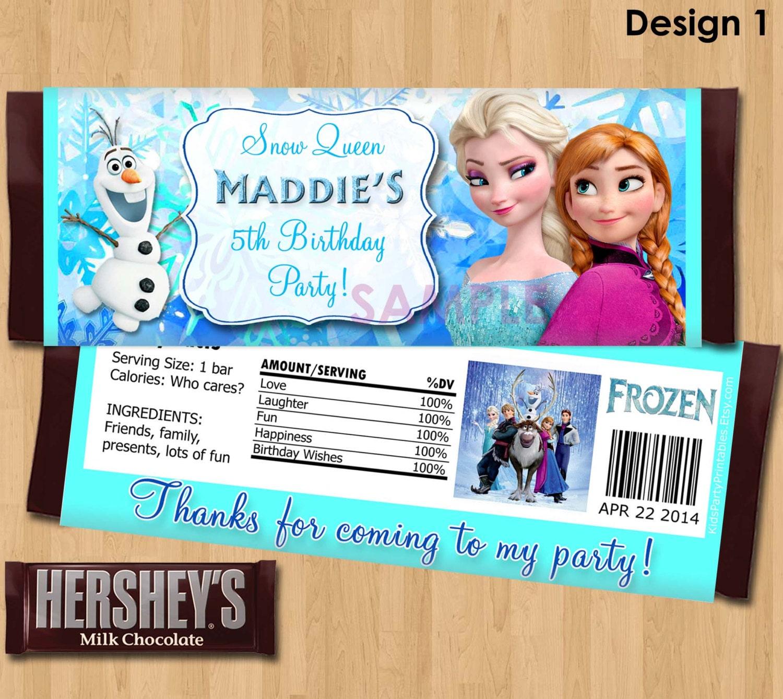Candy Bar Wrapper Ideas Buffet Design