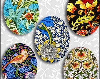 Digital Ovals 30mm X 40mm Vintage Art Nouveau Wm. Morris Designs for Pendants Scrapping Paper Crafts Collage Decoupage CS 562