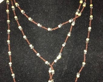 Vintage Super Long Beaded Necklace