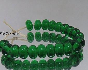 Emerald, Artisan Lampwork Glass Beads, SRA, UK