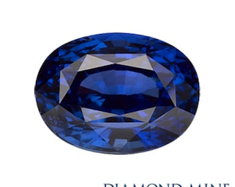5.69 Carat Blue Sapphire, Oval cut Sapphire, Loose Sapphire Gemstone, Blue Gemstone, Non Heated Real Sapphire