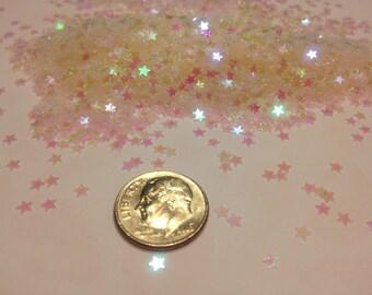 Tiny iridescent star  confetti , 3 mm (45)M