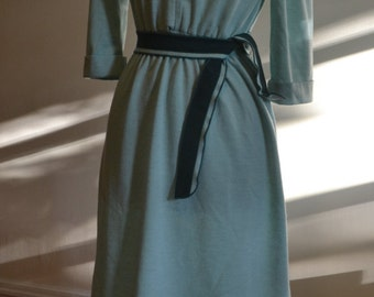 1970's Seafoam Green Sweater Dress