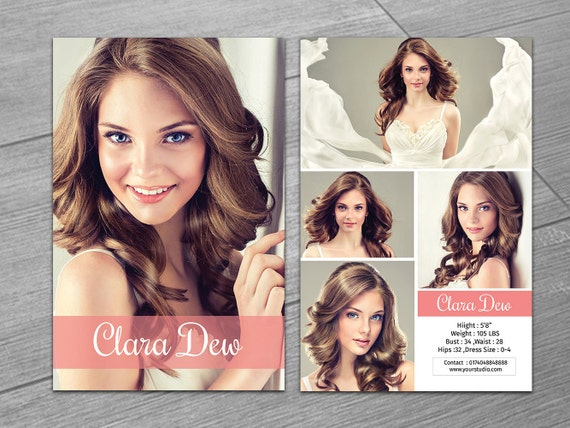 free model comp card template psd - modeling comp card template fashion model card microsoft
