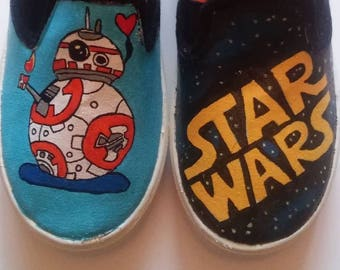 Star Wars BB8 hand painted shoes