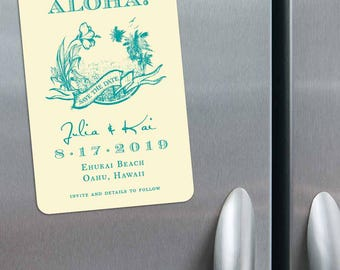Aloha - Magnet - Save the Date + Envelopes