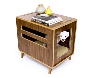 """Mid Century Modern Dog Crate Furniture 