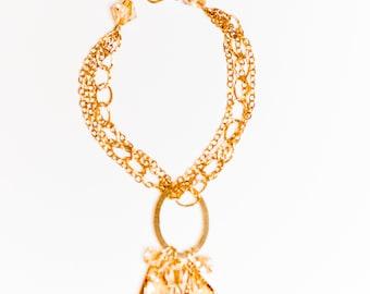 0060-Golden Shadow Swarovski Crystal Bracelet in 14kt gold filled