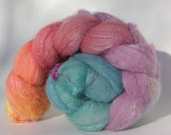 Shetland and silk spinning or felting - 100g