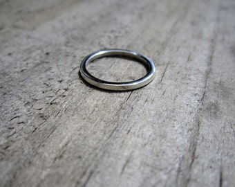 Single Sterling Silver Stacking Ring Band - Solid Sterling - Minimalist - Stacking Ring