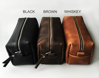Leather Toiletry Bag, Expandable Dopp Kit, Travel Bag, Mens Toiletry Bag, Mens Bathroom Bag, Groomsman Gift, Travel Case, Leather Bag