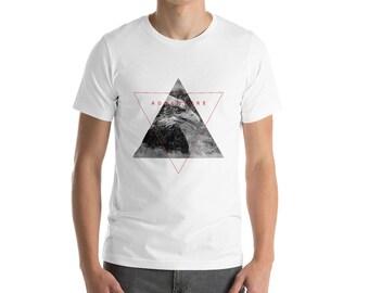 Outdoor-Wandern-t-shirt - Adler in der Berg-Geometrie - Kurzarm-Unisex T-Shirt