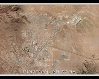 Kingman Arizona Satellite Poster Map