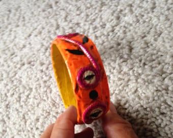 Colorful Paper Mache Bracelet