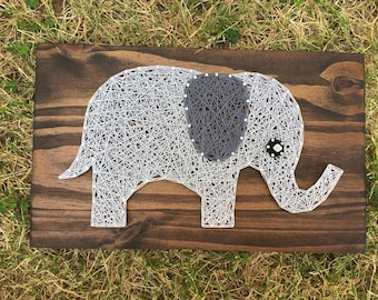 MADE TO ORDER Elephant String Art Board