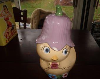 vintage spring chick cookie jar