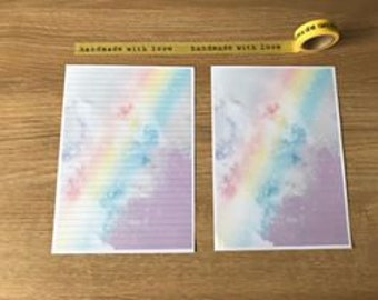Rainbow Pattern Snail Mail Pen Pal Writing Paper
