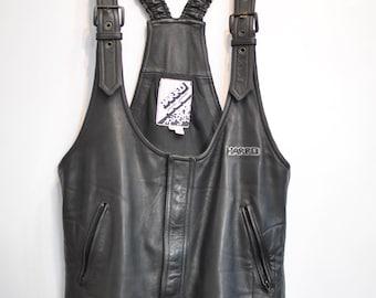 Vintage HARRO MEN'S MOTORCYCLE leather pants, biker leather overall ................(090