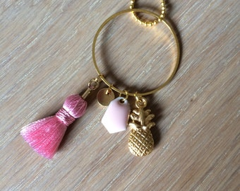Pink2 pineapple necklace
