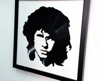 Jim Morrison Wall Art -Vinyl LP Record  Framed -Great Rock'n'Roll Gift