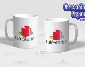 CaféStation Mug / Cup / Gift / Sony / PlayStation / PS1 / PSX / 90's / Video Games / Geek / Gamer