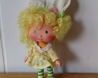 MEMORIAL DAY SALE vintage Strawberry Shortcake Lemon Meringue pie doll