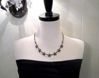 Starfish Necklace - Nautical Necklace -  Brass Starfish Necklace - Summer Necklace - Sea Star Necklace