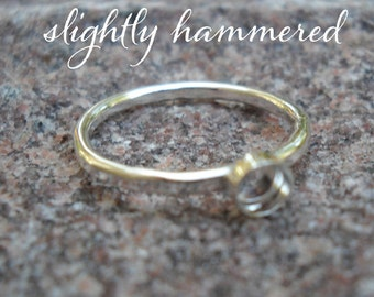Ring Blanks 1 single heavy gauge band  with 4mm bezel cup eco-friendly recycled 925 sterling silver - handmade in you size