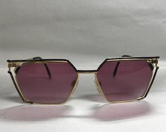 Cazal gold purple vintage sunglasses