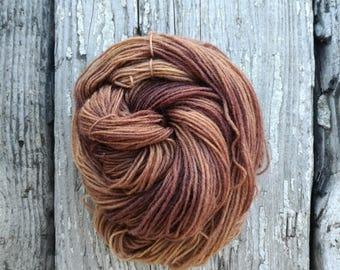Saturn Sock yarn - Handdyed Fingering wool/nylon 50g skein DYED TO ORDER - tonal semi-solid knitting laine teinte tricot