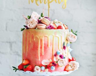 Mehndi Cake Toppers : Name cake topper etsy