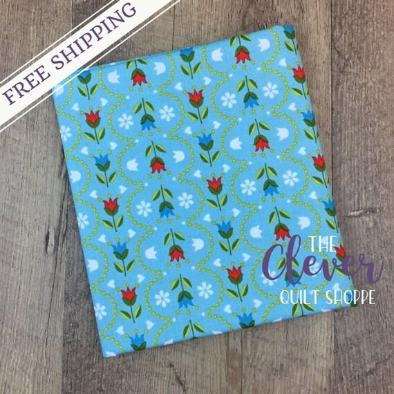 Quilting Fabric, Stripe Blue, Dutch Treat, Betz White, Riley Blake Designs, Yardage