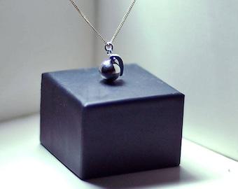 Silver Grenade necklace
