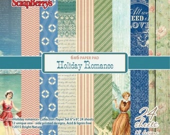 24 papers 15.2 x 15.2 cm SCRAPBERRY's HOLIDAY ROMANCE