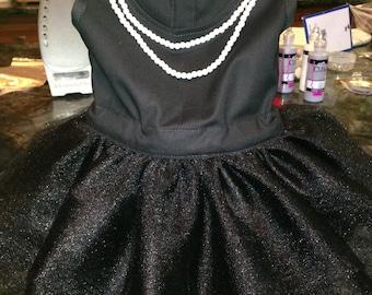 Audrey Hepburn Breakfast at Tiffany's Inspired Tutu Dress/Costume~Infant/Toddler/CHILD