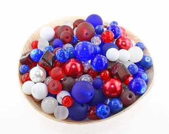 Glass Bead Mix Assorted 25 USA Color Combination 6mm to 12mm - BMX020