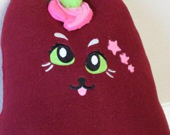 "Derpy Cat ""Mewnicorn"" - Stuffed cat plush pillow"