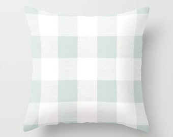 Blue Pillow cover Plaid Pillow Cover Decorative Pillow Cover Cabin Pillows Size Choice