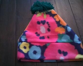 Fleece Hat Flowers