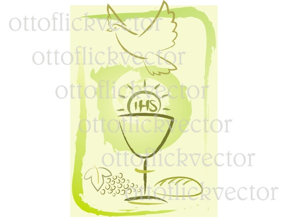 Holy Communion Symbols Vector Clipart Eps Ai Cdr Png Jpg