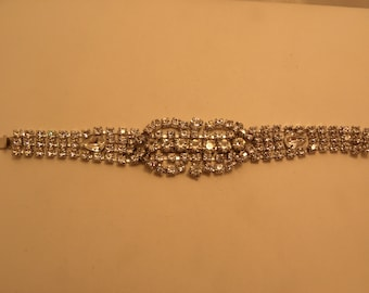 Vintage Signed Kramer Rhinestone Bracelet