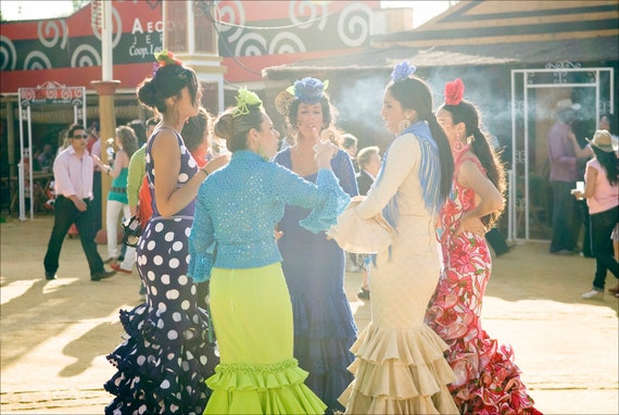 Senorita Gossip, Spanish festival, Jerez Horse Festival, Photographic Print, Limited edition Print
