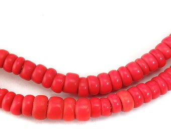 Red Glass Trade Beads Bohemian Africa 74940