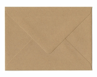 Natural Kraft A6 Envelopes 50/Pk